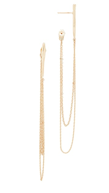 blanca monros gomez Large Wavy Chain Earrings