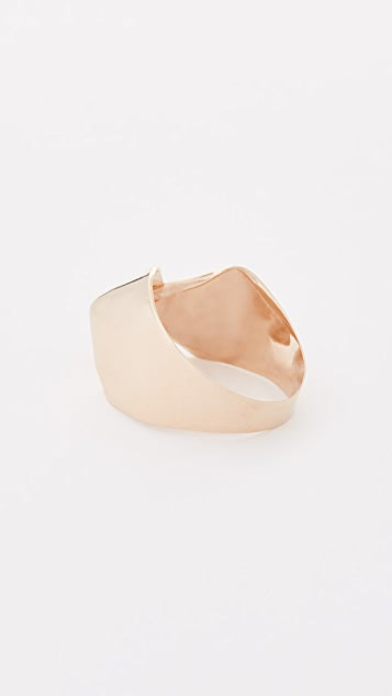 blanca monros gomez 14k Gold Big Fold Ring