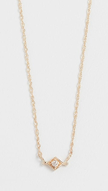 blanca monros gomez 14K Gold Tiny Filigree Necklace