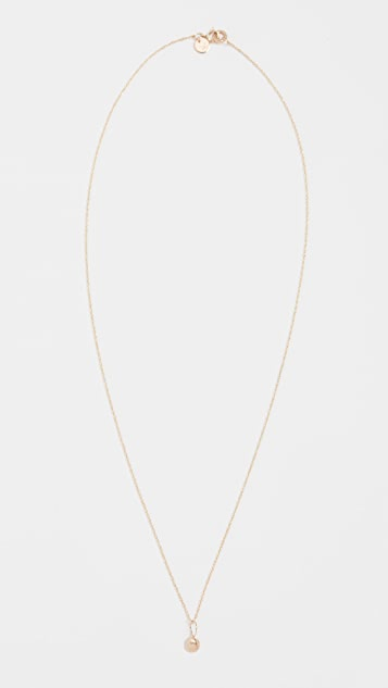 blanca monros gomez 14K Gold Tiny Seashell Charm Necklace