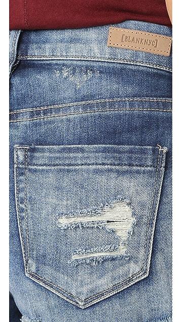 Blank Denim Frayed Cutoff Shorts