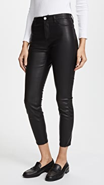 The Principle Mid Rise Vegan Leather Skinny Pants