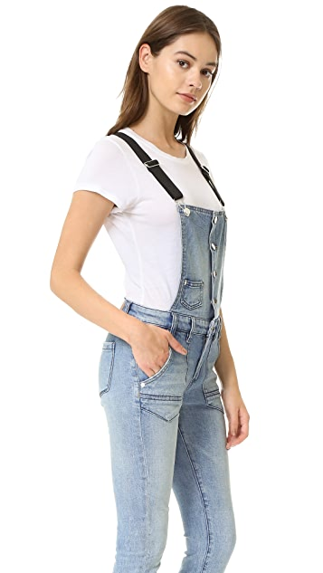 Blank Denim Button Up Overalls