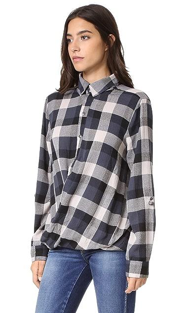 Blank Denim Plaid Shirt