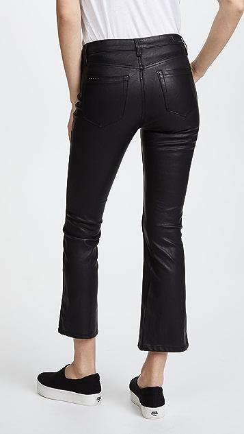 Blank Denim Vegan Leather Crop Kick Flare Pants