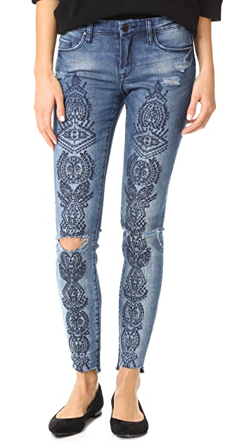 Blank Denim Embroidered Jeans