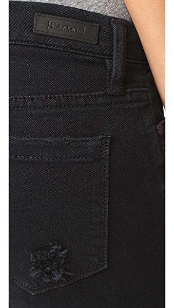 Blank Denim Ripped Hem Jeans