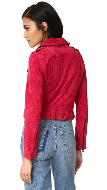 Blank Denim Байкерская куртка из замши