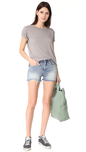 Blank Denim Min Mischief Cutoff Shorts