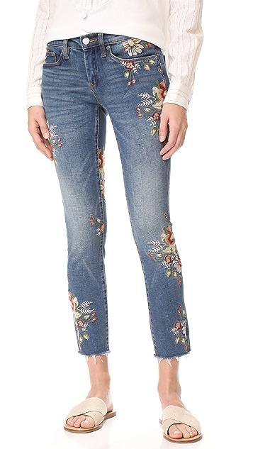 Blank Denim Floral Skinny Jeans
