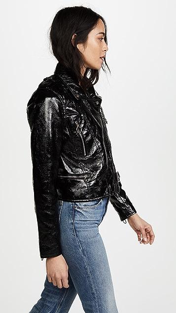 Blank Denim Black Shiny Jacket