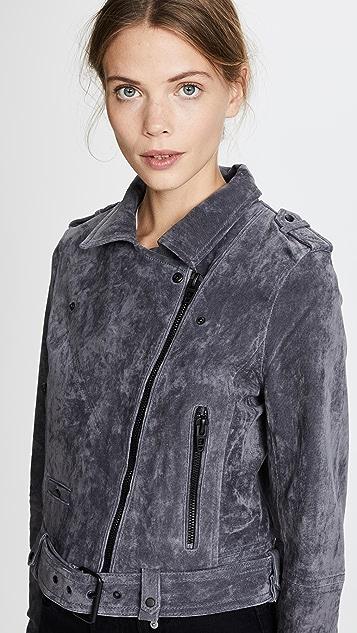 Blank Denim Stargazer Suede Moto Jacket