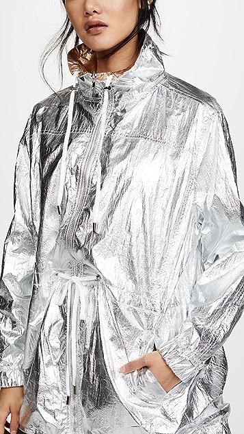 Blank Denim Двусторонний анорак цвета металлик
