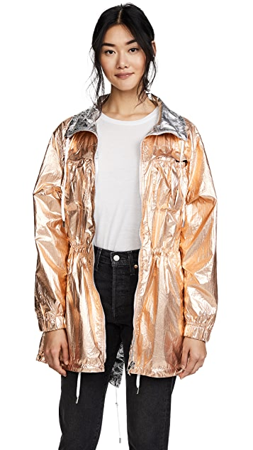 Blank Denim Reversible Metallic Anorak