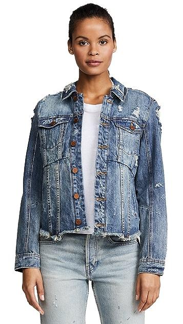 Blank Denim Distressed Denim Jacket