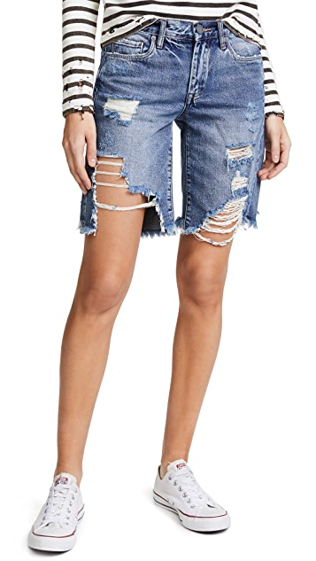 Blank Denim Distressed Shorts