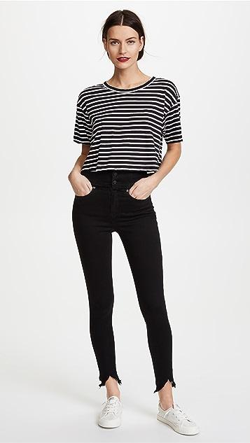 Blank Denim High Rise Corset Skinny Jeans