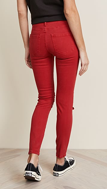 Blank Denim Mid Rise Skinny Ankle Jeans