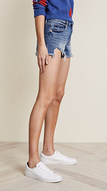 Blank Denim Cutoff Denim Shorts