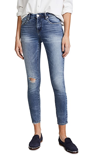 Blank Denim Mid Rise Skinny Ankle Jeans