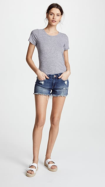 Blank Denim Cutoff Shorts