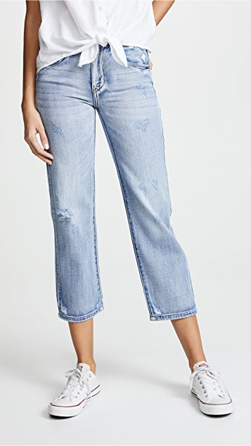 Blank Denim Cropped Straight Leg Jeans