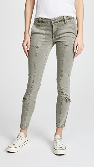 Blank Denim Utility Pants with Zips