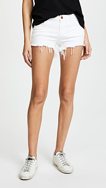 Blank Denim Cutoff Shorts - The Great White