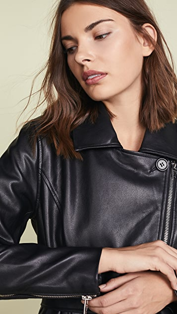 Blank Denim Vegan Leather Trench Coat