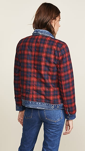 Blank Denim Reversible Flannel Denim Jacket