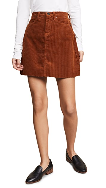 Blank Denim Corduroy Mini Skirt