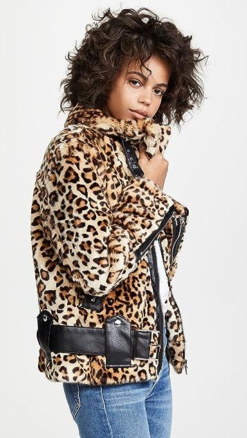 Blank Denim Жакет с леопардовым принтом