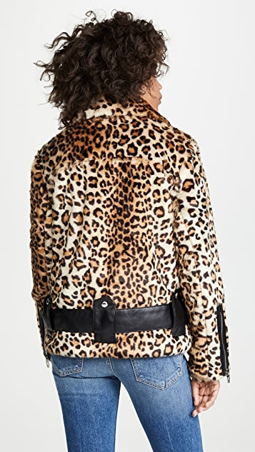 Blank Denim Leopard Print Jacket