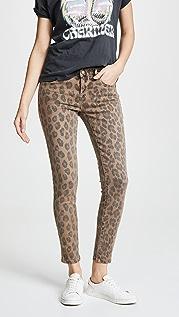 Blank Denim Leopard Print Skinny Jeans