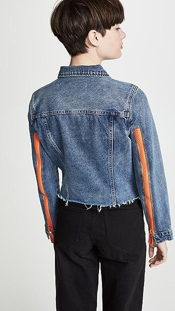 Blank Denim Zip Detail Denim Jacket