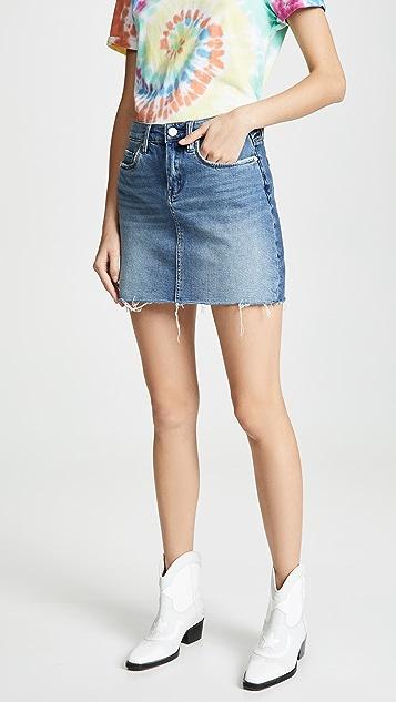 Blank Denim Two Faced Denim Skirt