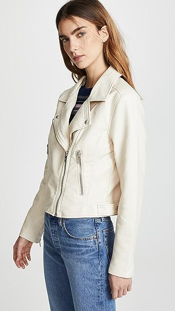 Blank Denim Denim & Vegan Moto Jacket