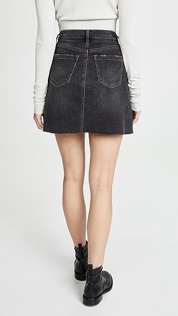 Blank Denim Before & After Skirt