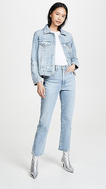 Blank Denim Punch Line Jacket