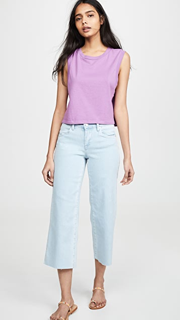 Blank Denim Cropped Wide Leg Jeans