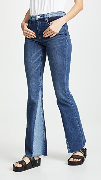 Blank Denim Patchwork Flare Jeans - Mix & Match