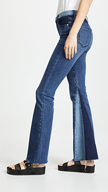 Blank Denim Patchwork Flare Jeans