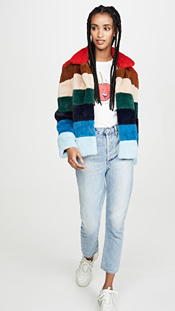 Blank Denim Rainbow Pop Coat