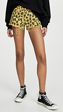 Lime Light Leopard Shorts