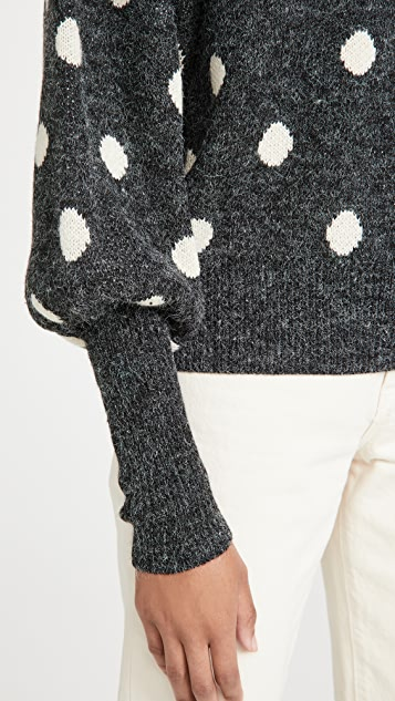 Blank Denim Puff Sleeve Sweater