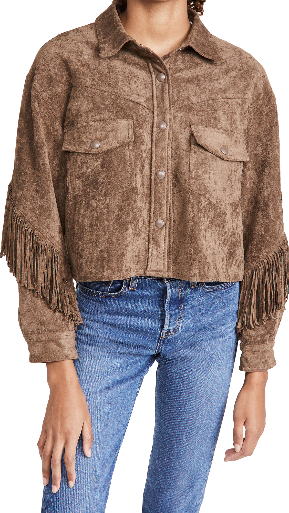 Blank Denim Hot Cocoa Fringe Jacket