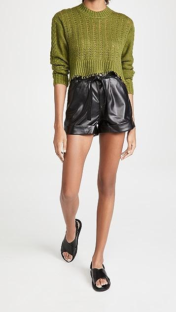 Blank Denim Vegan Leather Shorts