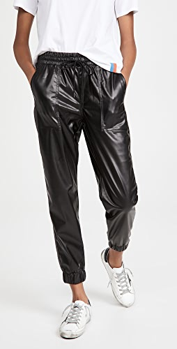 Blank Denim - Black Widow Faux Leather Joggers