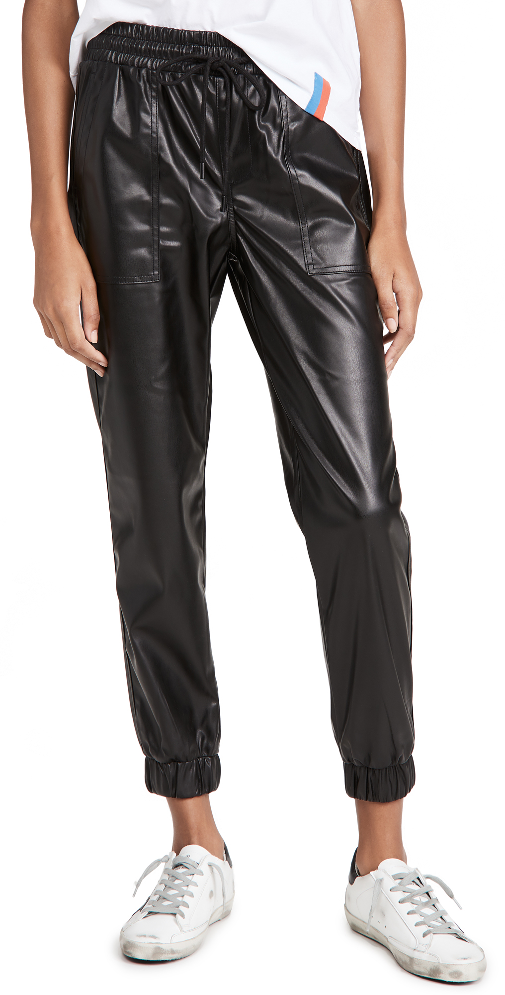 Blank Denim Black Widow Faux Leather Joggers