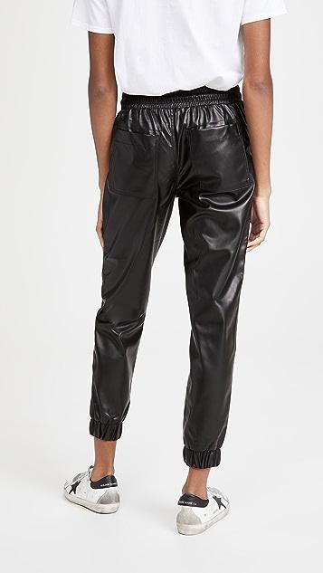 Blank Denim Black Widow Faux Leather Joggers